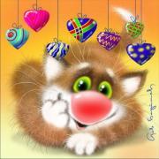 картинки открытки котик