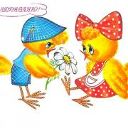 картинки открытки цыплята