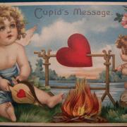 открытка с ангелами на 14 февраля