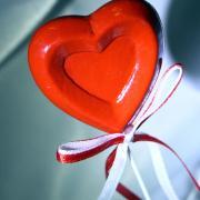 карамель в форме сердца