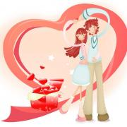 открытка девушке с праздником влюбленных
