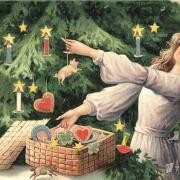открытки елка на английском