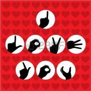 открытки жест признания в любви на английском