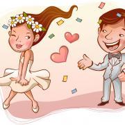 любовь свадебные открытки