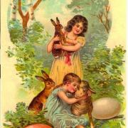 поздравительные открытки с днем  пасхи апрель