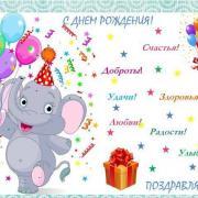 открытка с днем рождения и пожелания
