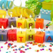 открытка свечи ко дню рождения