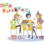 открытка подруге с днем рождения