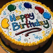 открытка с днем рождения в виде торта