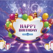 салют открытка с днем рождения