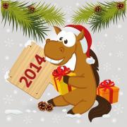 открытки год лошади картинки