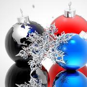 открытка с новым годом шары