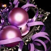 открытка с новым годом фиолетовые шары