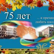 открытка к юбилею школу