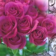 открытка с юбилеем цветы