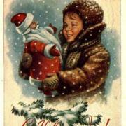 старая открытка нового года