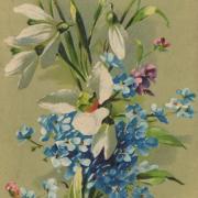 весна на старой открытке